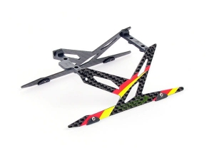 B130X11-R  Carbon Landing Skid Set (Red) - Blade 130X
