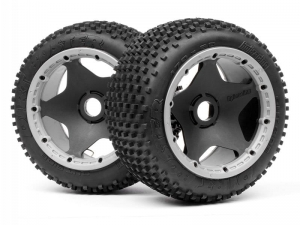 4789 - DIRT BUSTER BLOCK TIRE HD COMPOUND ON BLACK WHEEL