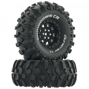 "Duratrax Koło z oponą Showdown CR C3 1.9"" Crawler czarne (2)"