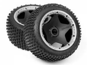 4737 - DIRT BUSTER BLOCK TIRE S COMPOUND on BLACK WHEEL