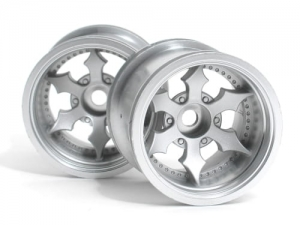3083 - SPIKE TRUCK WHEEL (MATTE CHROME/2PCS)