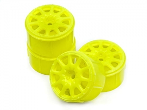HPI 113089 - METHOD RALLYCROSS WHEEL YELLOW (MICRO RS4/4PCS)