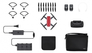 DJI SPARK Lava Red RTF - Fly More Combo