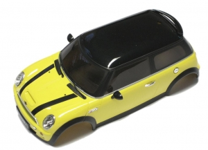 Karoseria do modelu MiniZ MR-02 (Nanoracer, Firelap...) - Mini Cooper - Żółty